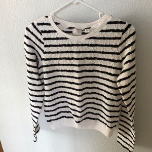 Anthropologie striped crew neck shirt